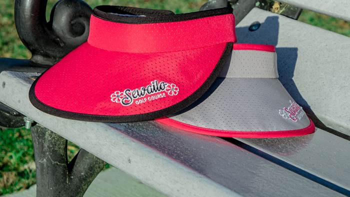 Ladies Velcro Extra-Wide Brim Visor
