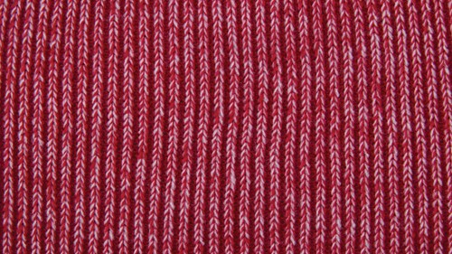 Twisted yarn option scarlet and white
