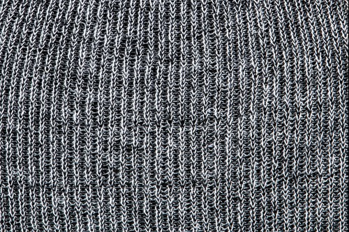 Heathered yarn option black and white
