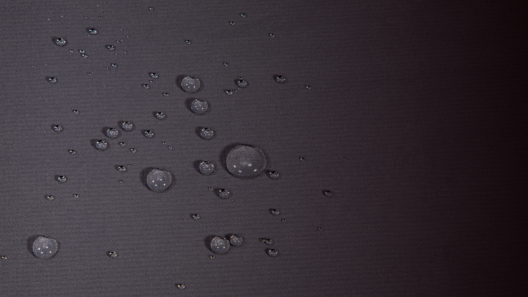 Water Droplets On DriMax Fabric