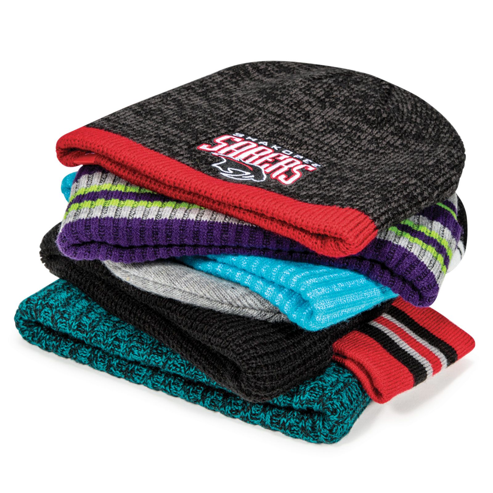 Stack of Cold Weather Knits for Team Sports