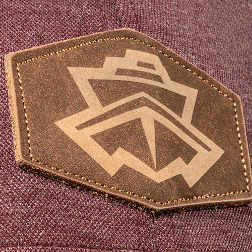 Reverse Laser Etched Leather Patch
