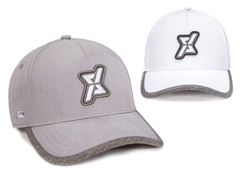 Two Fitness hats with removable velcro patches
