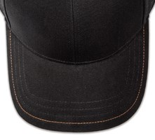 Pukka hat, visor stitching, 4 rows, 1 contrast stitch, 1 color