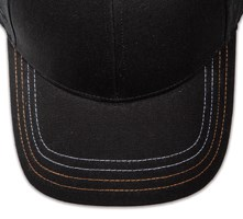 Pukka hat, visor stitching, 4 rows, 4 contrast stitch, 2 colors