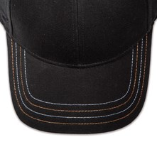 Pukka hat, visor stitching, 4 rows, 4 contrast stitch, 2 colors alternating