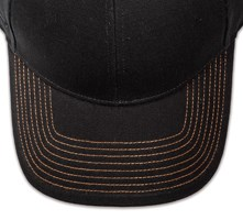 Pukka hat, visor stitching, 8 rows, 8 contrast stitch, 1 color