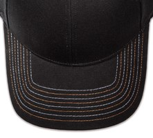 Pukka hat, visor stitching, 8 rows, 8 contrast stitch, 2 color