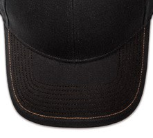 Pukka hat, visor stitching, 8 rows, 1 contrast stitch, 1 color