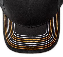 Pukka hat, visor stitching, 4 rows, 8 thick stitch, 2 color