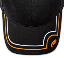 Pukka hat, visor stitching, 4 rows, 2 thick satin stitch with corner icon, 2 color
