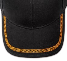 Pukka hat, visor stitching, 4 rows, flat lock stitch, 1 color