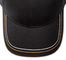 Pukka hat, visor stitching, 8 rows, 2 thick hand stitch, 2 color