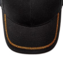 Pukka hat, visor stitching, 8 rows, flat lock stitch, 1 color